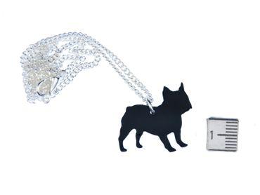 Mops Kette Halskette Miniblings 45cm Hund Französiche Bulldogge Tier Lasercut – Bild 2