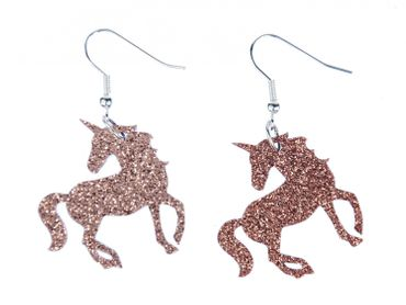 Unicorn Earrings Miniblings Fantasy Animal Glitter Forest Mythical Creatures LC tale – Bild 1