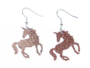 Unicorn Earrings Miniblings Fantasy Animal Glitter Forest Mythical Creatures LC tale – Bild 2