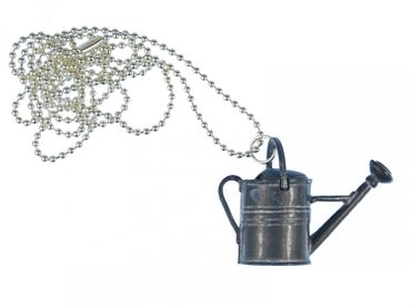 Watering can Necklace Miniblings 80cm Gardening Tool Water Flowers garden house – Bild 1