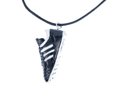 Football Necklace Miniblings Textile ball Em Wm Goal Sport soccer game profession – Bild 1