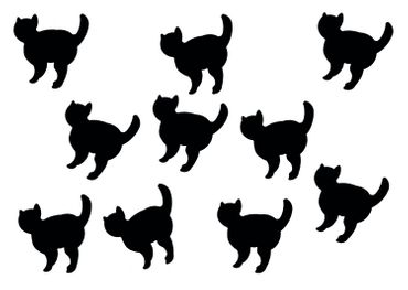 10X Patch Hotfix Iron On Motif Miniblings 26mm Velvety Flock Cat Cat Animal – Bild 12