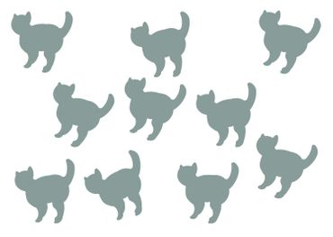 10X Patch Hotfix Iron On Motif Miniblings 26mm Velvety Flock Cat Cat Animal – Bild 20
