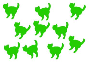 10X Patch Hotfix Iron On Motif Miniblings 26mm Velvety Flock Cat Cat Animal – Bild 2