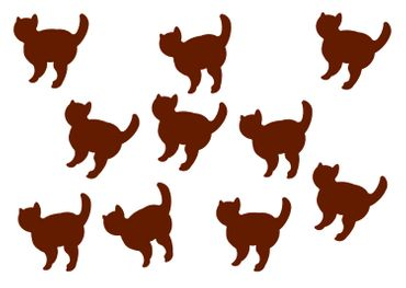 10X Patch Hotfix Iron On Motif Miniblings 26mm Velvety Flock Cat Cat Animal – Bild 6