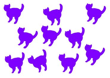 10X Patch Hotfix Iron On Motif Miniblings 26mm Glossy Gloss Cat Cat Animal – Bild 7