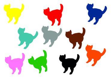 10x Bügelbild Bügelbilder Aufnäher Patch Miniblings 26mm FLOCK Katze Kater Tier – Bild 1