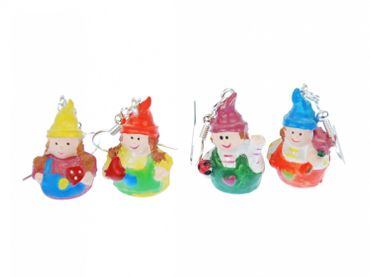 Gnome Trolls Earrings Miniblings Dwarf troll gnomes Forest Fantasy Myths Legends – Bild 1