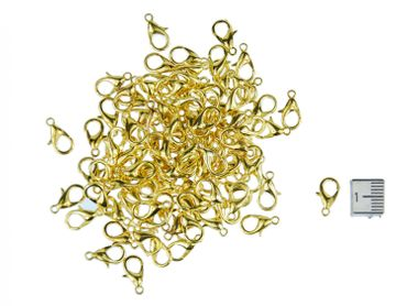 Gold 100X Carabiner Miniblings Clasp 12X6mm Jewellery Supply Jewelry Crafts DIY Making – Bild 3