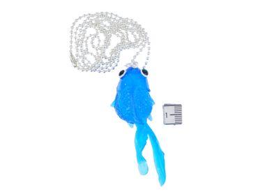 Fish Koi Necklace Miniblings 80cm Fighting Fish Rubber Navy Marine – Bild 2