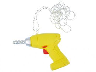 Bohrmaschinen Kette Halskette Miniblings 80cm Werkzeug Werkstatt Werkzeugkasten – Bild 1