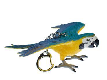 ara Macaw Parrot Key Chain Key Ring Miniblings Necklace Key Ring Bird Yellow wild animal pet – Bild 1