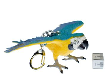 ara Macaw Parrot Key Chain Key Ring Miniblings Necklace Key Ring Bird Yellow wild animal pet – Bild 2