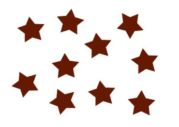 10x Bügelbild Bügelbilder Aufnäher Patch Miniblings 25mm GLATT Stern braun – Bild 1