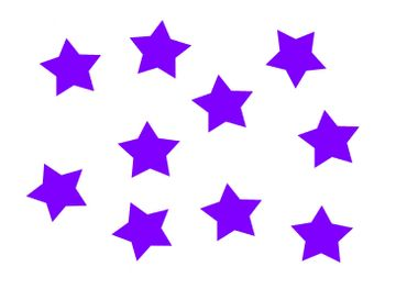 10x Bügelbild Bügelbilder Aufnäher Patch Miniblings 25mm GLATT Stern lila – Bild 3