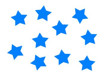 10x Bügelbild Bügelbilder Aufnäher Patch Miniblings 25mm FLOCK Stern blau – Bild 1