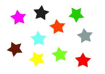 10X Patch Hotfix Iron On Motif Miniblings 25mm Glossy Gloss Star Stars White – Bild 1
