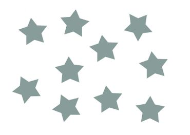 10X Patch Hotfix Iron On Motif Miniblings 25mm Glossy Gloss Star Stars Gray – Bild 1