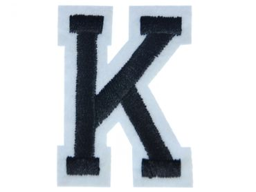 Letters Initials Alphabet ABC Patch Hotfix Iron On Application Miniblings 5cm Letter K – Bild 1