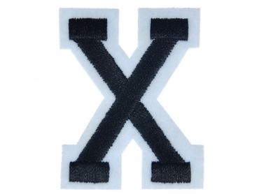 Buchstaben Initialen Alphabet ABC Bügelbild Patch Miniblings 5cm Buchstabe X – Bild 1