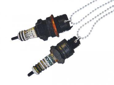 Spark Necklace Miniblings 80cm Auto car technic Parts Wood Printed Wood Laser Cut – Bild 3
