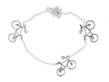3 Bicycles Necklace Miniblings 45cm Bicycle Heart Two-Wheel Bike sport – Bild 2