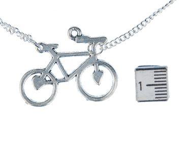 3 Bicycles Necklace Miniblings 45cm Bicycle Heart Two-Wheel Bike sport – Bild 3
