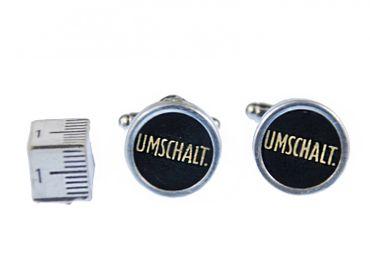 Umschalt. Manschettenknöpfe Schreibmaschinetaste Miniblings Vintage Unikat + Box – Bild 3