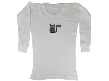 Baby Langarmshirt Feinripp KALLE FUX Handarbeit Longsleeve Shirt Eichhörnchen 86 – Bild 1