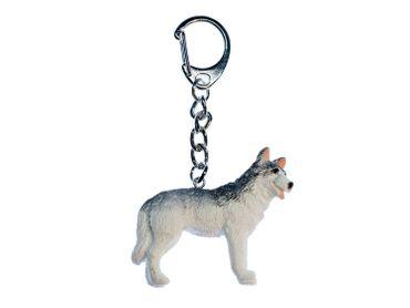 Husky Schlüsselanhänger Miniblings Anhänger Schlüsselring Hund Sibirien Schnee – Bild 1
