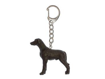 Deutsche Dogge Schwarz Schlüsselanhänger Miniblings Anhänger Schlüsselring Hund – Bild 1