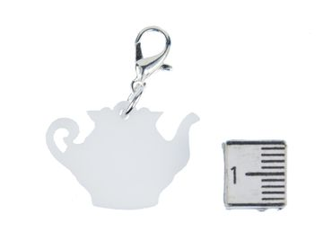 Coffeepot Charm For Bracelet Wristlet Dangle Miniblings Coffee Pot Teapot Tea mug cup kitchen teatime – Bild 1