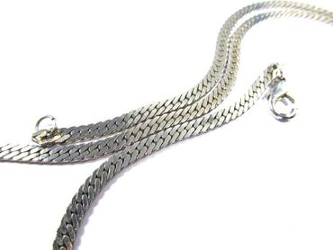 Link Necklace Miniblings Metal Silver plated 70cm – Bild 7