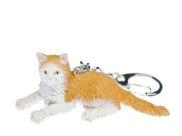 Maine Coon cat Key Ring Miniblings Forest Cats pet animal – Bild 1