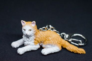 Maine Coon cat Key Ring Miniblings Forest Cats pet animal – Bild 3