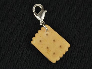 Shortbread Charm For Bracelet Wristlet Dangle Miniblings Charms Eating Food biscuit cake cookie sweets – Bild 3
