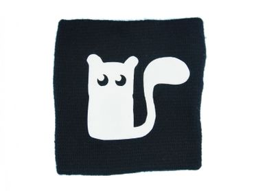 Sweatband Wristband Wrist Warmer Squirrel With Zipper Pull Miniblings Cat Animal black – Bild 1