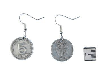 penny East Germany DDR 5 Pfennig GDR German Earrings Miniblings Pennies Nostalgia Old Coin money – Bild 2