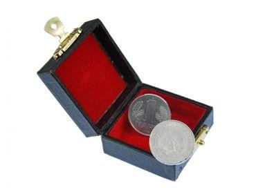 1 DDR  Mark Manschettenknöpfe Miniblings Mauer Münzen Geld Ostalgie Währung + Box – Bild 1