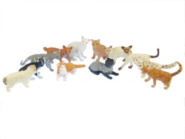 11X Cats Miniblings Rubber Animal Pet Cat Persian Minx Mix Figure Figurines Toys – Bild 2