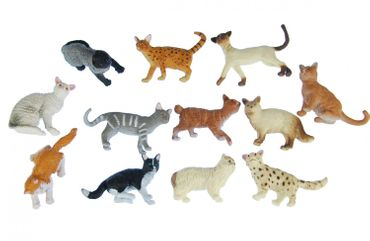 11X Cats Miniblings Rubber Animal Pet Cat Persian Minx Mix Figure Figurines Toys – Bild 4