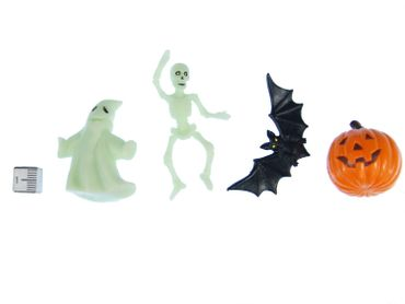 7X Halloween Miniblings Toy Figures Figurines Witches Cauldron Ghost Pumpkin Mix – Bild 2