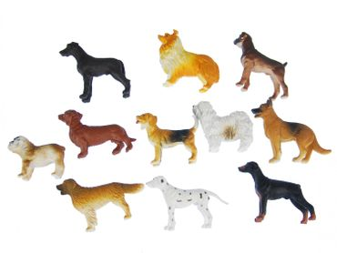 10X Dogs Miniblings Toy Figures Figurines Pet Dog Significant Mix – Bild 1