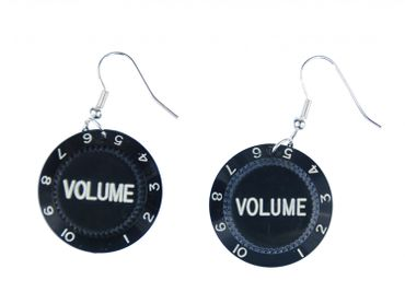 Poti Earrings Miniblings Pendant Volume Button Volume Potentiometer Music – Bild 1