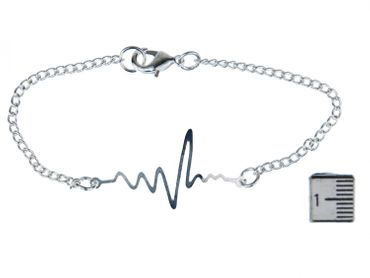 Lifelines Bracelet Wristlet Dangle Miniblings Armkette Frequency Heartbeat ECH Medical Doctor – Bild 4