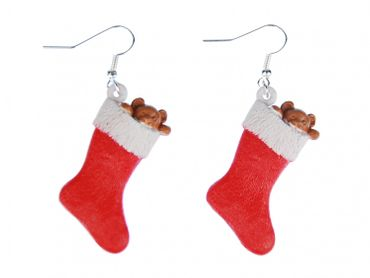 Christmas Socks Nikolaus Stiefel Christmas Stocking Earrings Miniblings Christmas – Bild 1