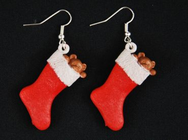 Christmas Socks Nikolaus Stiefel Christmas Stocking Earrings Miniblings Christmas – Bild 2