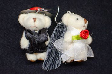 Bear Couple Earrings Miniblings Bear Wedding Bride And Groom Teddies Marriage – Bild 3