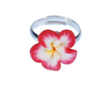 Flower Ring Miniblings Flower Red Yellow Bloom Plant Nature Spring Cawaii – Bild 1