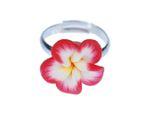 Blumenring Ring Miniblings Blume rot gelb Blüte Pflanze Natur Frühling Kawaii